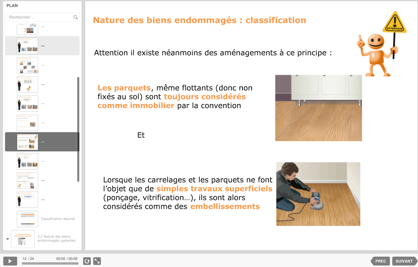 Modules de formation assurance sur mesure
