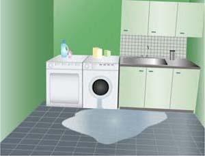 Assurance debordement de machine à laver
